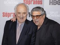 Jerry Adler e Vincent Pastore 'no evento dos sopranos fotos de stock