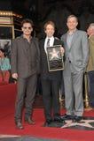 Jerry Bruckheimer & Johnny Depp & Bob Iger Stock Image