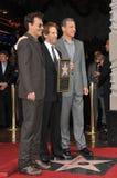 Jerry Bruckheimer & Johnny Depp & Bob Iger Stock Photo