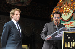 Jerry Bruckheimer & Johnny Depp Stock Photo