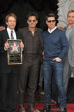Jerry Bruckheimer & Johnny Depp & Tom Cruise & Bob Iger Stock Images