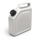 Jerry can. 3D illustration of white jerry can  on white background Stock Image