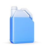 Jerry can with blue liquid Stock Images