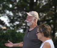 Jerry Grove, gardener, speaks at Summer Tour Stock Photos
