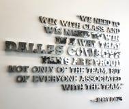 Jerry Jones Dallas Cowboys Inspirational-Teamzitat The Star-Fußball lizenzfreies stockbild