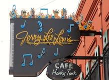 Jerry Lee Lewis Honky Tonk kawiarnia. Zdjęcia Stock