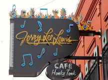 Jerry Lee Lewis's Honky Tonk Cafe. This is Jerry Lee Lewis Honky Tonk Cafe located on the World Famous Beale Street in Memphis, Tennessee Stock Photos