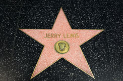 Jerry Lewis Star on the Hollywood Walk of Fame Stock Photos