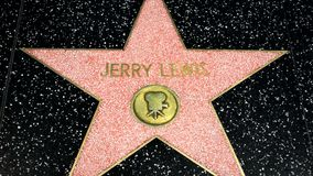 Jerry Lewis Star on the Hollywood Walk of Fame stock video