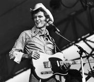 Jerry Reed. Country music singer, guitarist, and film actor, Jerry Reed, is having a good old time performing at Chicagofest in Chicago, Illinois, in August of royalty free stock photos
