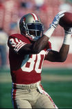 Jerry Rice Pulls One In Arkivbild