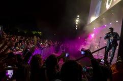 Jerry Rivera Concert in Lima royalty-vrije stock foto