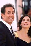 Jerry Seinfeld, Jessica Seinfeld stockbilder
