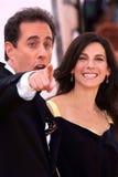 Jerry Seinfeld, Jessica Seinfeld fotografía de archivo libre de regalías