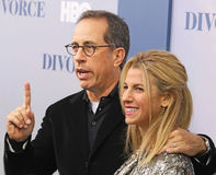 Jerry Seinfeld and Jessica Seinfeld Royalty Free Stock Image