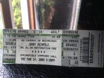 Jerry Seinfeld no bilhete de Salão da sinfonia de Spriongfield em 2008 Fotos de Stock