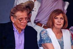 Jerry Spokojny i Anne Meara fotografia stock