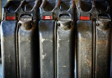 Jerrycan background Royalty Free Stock Images