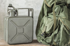 Jerrycan with backpack Royalty Free Stock Photo