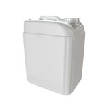 Jerrycan d'isolement par plastique blanc Photo libre de droits