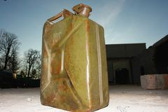 Jerrycan jerry petrol can Royalty Free Stock Photography