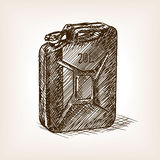 Jerrycan sketch style vector illustration Royalty Free Stock Photos