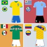 Jerséis del fútbol de Américas Imagen de archivo libre de regalías