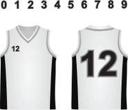 Jersey blanco del baloncesto ilustración del vector