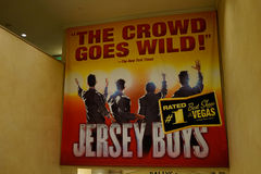 Jersey Boys advertisement Las Vegas, Nevada Royalty Free Stock Photos