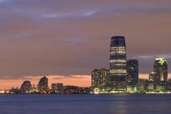 Jersey city. Skyline of yersey city by sunset Stock Images