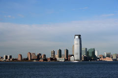 Jersey City. Skyline from New York Harbor Royalty Free Stock Photo