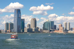 Jersey City Blur Stock Photography