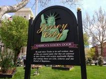 Jersey City, declaração do Estados Unidos da independência, NJ, EUA foto de stock