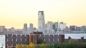 Jersey City e isla de los gobernadores Imagen de archivo libre de regalías