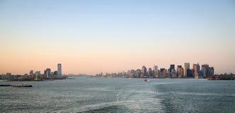 Jersey City e Manhattan Fotografia Stock Libera da Diritti