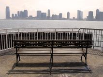 Jersey city from manhattan Royalty Free Stock Image