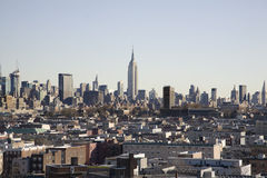 Jersey City with Manhattan Behind Royalty Free Stock Image