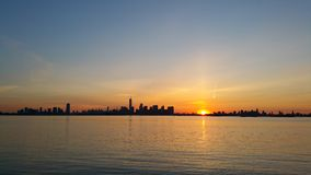 Jersey City, Manhattan and Brooklyn skylines Stock Image