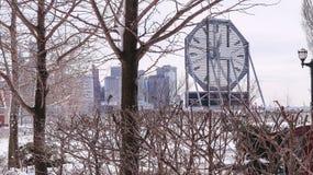 JERSEY CITY, NEW JERSEY, ETATS-UNIS - 22 MARS 2018 : L'horloge célèbre de Colgate chez Paulus Hook images stock