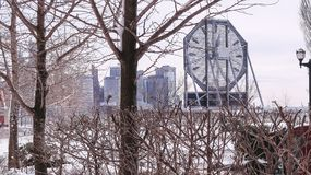 JERSEY CITY, NEW JERSEY, U.S.A. - 22 MARZO 2018: L'orologio famoso di Colgate a Paulus Hook immagini stock