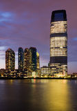 Jersey City at night Royalty Free Stock Images