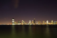 Jersey City at night Royalty Free Stock Photos