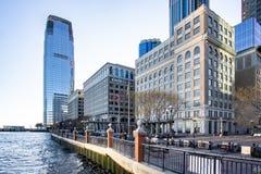 Jersey City, NJ/Etats-Unis - janv. 11, 2019 : Bord de mer d'endroit d'échange photographie stock libre de droits