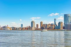 View of New York from Jersey City Stock Images