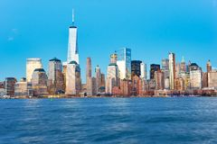 View of New York from Jersey City Royalty Free Stock Photo