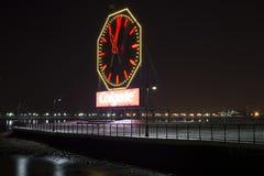 Jersey City Nj nacht Colgate-Uhr Lizenzfreie Stockbilder