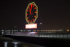 Jersey City. Nj. Night. Colgate Clock. Royalty Free Stock Images