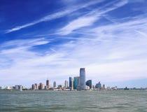 Jersey City på en solig dag Arkivfoto