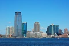 Jersey City Skyline. View of Jersey City skyline from New York side Stock Photo