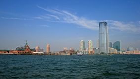 The Jersey City skyline Stock Images